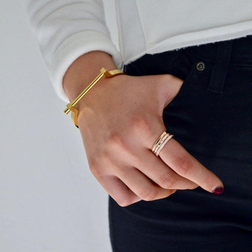 Rose Gold Vermeil Paved Stacking Ring  ,[product vendor],JewelStreet