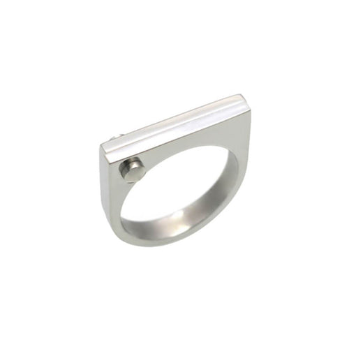 Silver D Ring ,[product vendor],JewelStreet