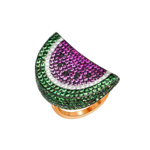 18kt Rose Gold Watermelon Ring ,[product vendor],JewelStreet