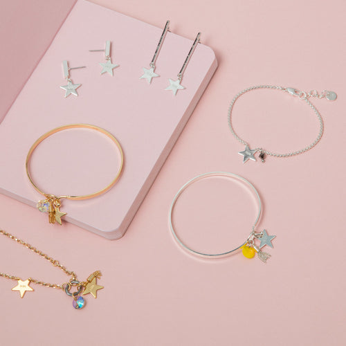 Star Drop Earring Gold ,[product vendor],JewelStreet
