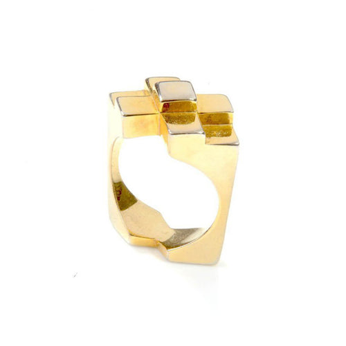 18kt Yellow Gold Vermeil Original Icon Ring ,[product vendor],JewelStreet
