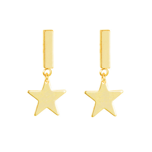 Yellow Gold Plated Star Earring ,[product vendor],JewelStreet