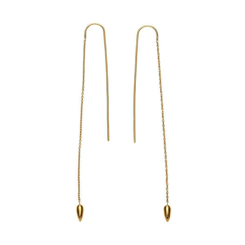 Gold Anther Threaded Earrings ,[product vendor],JewelStreet EU