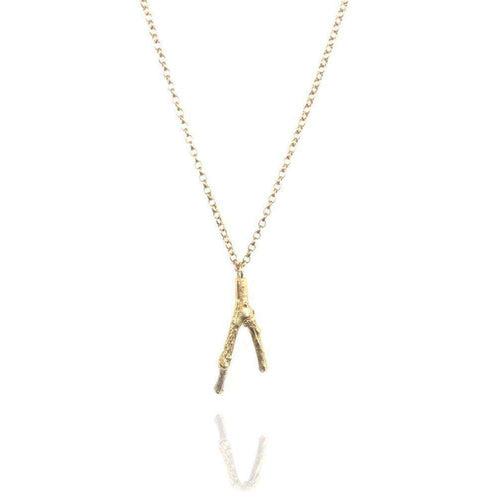 18kt Gold Vermeil Small Twig Necklace-Mayah Jewellery-JewelStreet EU