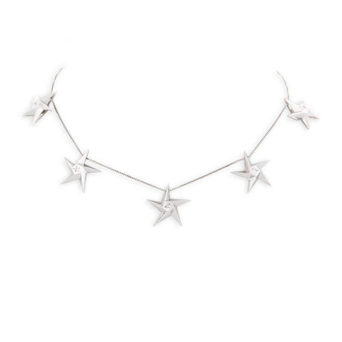 5 Star Diamond Necklace-Necklaces-Daou Jewellery-JewelStreet