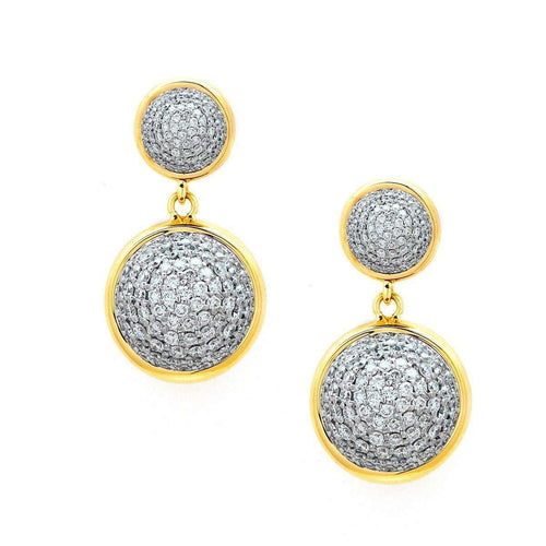 18kt Diamond Bauble Earrings-Syna-JewelStreet EU