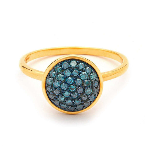 18kt Blue Diamond Chakra Ring-Syna-JewelStreet EU
