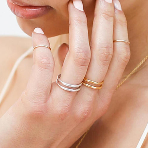Yellow Gold Plated Twist Ring