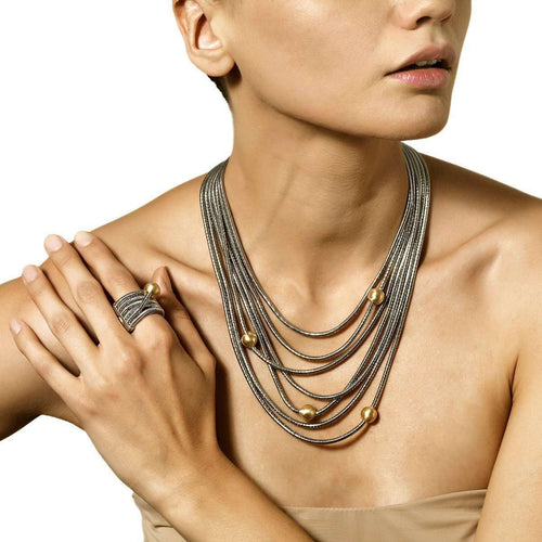 Waves Necklace-Franco Piane Designed By Franco Pianegonda-JewelStreet EU