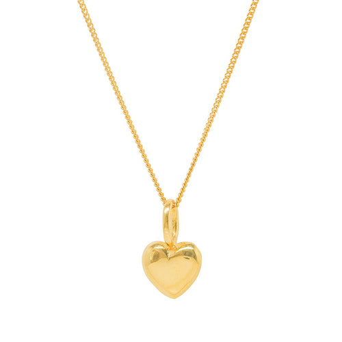 Beaten Heart Gold Plated Charm-Katie Mullally-JewelStreet EU
