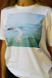 Girl Floating In Water, Unisex T-shirt or Tank