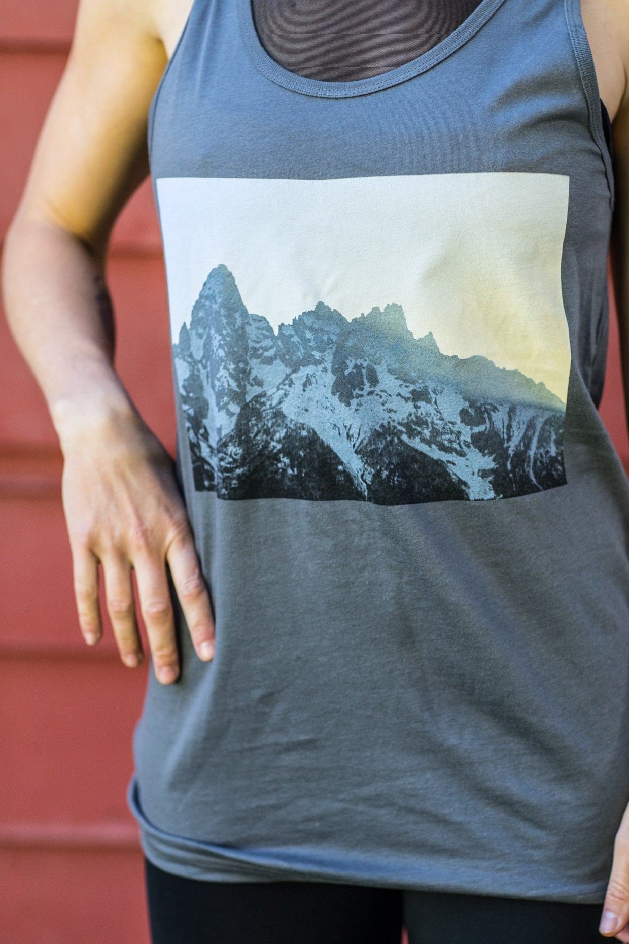 Tetons, Unisex Asphalt Tank 10440983560 Featured