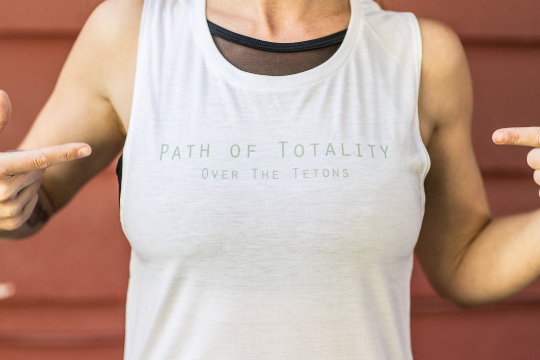 Path Of Totality, Women's White Tank