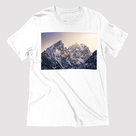 Tetons, The Cathedral Group, Unisex White T Thumbnail