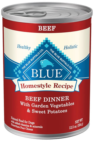 Blue Buffalo Homestyle Beef Dinner with Garden Vegetables and Sweet Potatoes Canned Dog Food