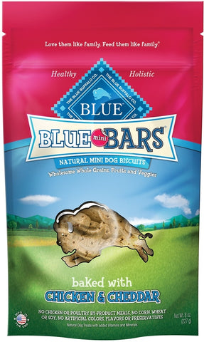 Blue Buffalo BLUE Mini Bars Chicken and Cheddar Natural Mini Dog Biscuits