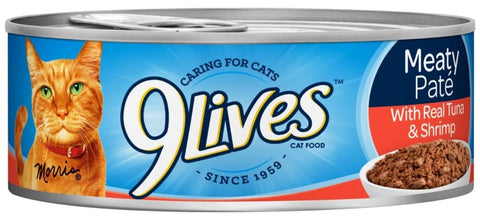 9 Lives Meaty Pate with Real Tuna and Shrimp Canned Cat Food