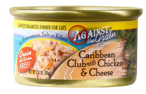Against the Grain Caribbean Club with Chicken and Cheese Canned Cat Food