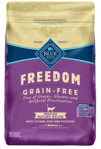 Blue Buffalo BLUE Freedom Grain Free Mature Indoor Dry Cat Food