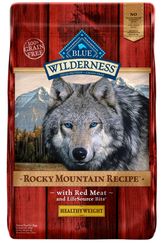 Blue Buffalo BLUE Wilderness Rocky Mountain Recipe Adult Healthy Weight Red Meat Dry Dog Food
