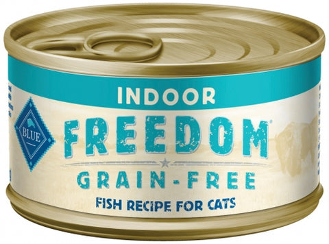 Blue Buffalo BLUE Freedom Grain Free Fish Recipe Indoor Canned Cat Food