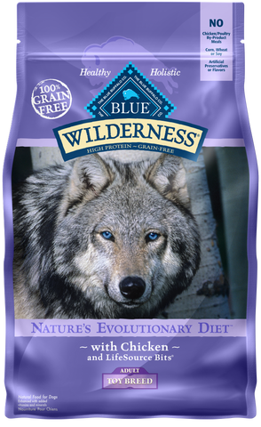 Blue Buffalo BLUE Wilderness Toy Breed Adult Chicken Recipe Dry Dog Food