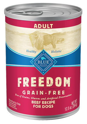 Blue Buffalo BLUE Freedom Grain Free Beef Recipe Canned Dog Food