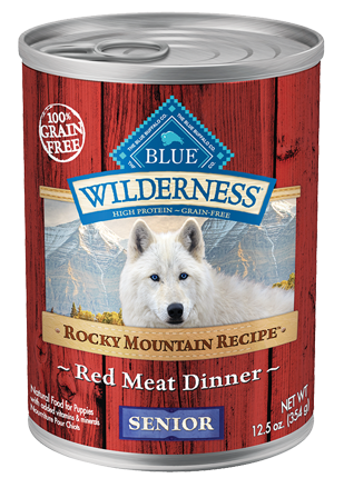 Blue Buffalo BLUE Wilderness Rocky Mountain Recipe Grain Free Senior Red Meat Dinner Canned Dog Food