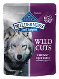 Blue Buffalo BLUE Wilderness Wild Cuts Trail Toppers Chunky Beef Bites in Hearty Gravy Dog Food Pouch