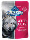 Blue Buffalo BLUE Wilderness Wild Cuts Trail Toppers Chunky Salmon Bites in Hearty Gravy Dog Food Pouch