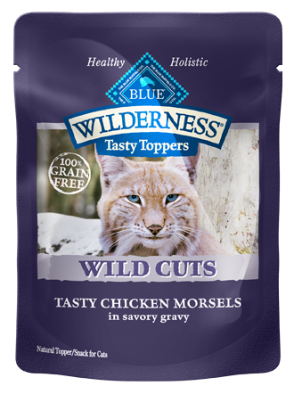 Blue Buffalo BLUE Wilderness Wild Cuts Tasty Toppers Tasty Chicken Morsels in Savory Gravy Cat Food Pouch