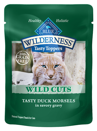 Blue Buffalo BLUE Wilderness Wild Cuts Tasty Toppers Tasty Duck Morsels in Savory Gravy Cat Food Pouch