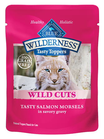 Blue Buffalo BLUE Wilderness Wild Cuts Tasty Toppers Tasty Salmon Morsels in Savory Gravy Cat Food Pouch