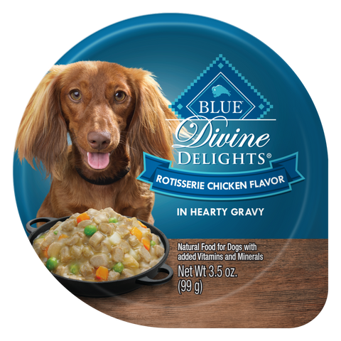 Blue Buffalo Divine Delights Small Breed Rotisserie Chicken in Gravy Dog Food Cup