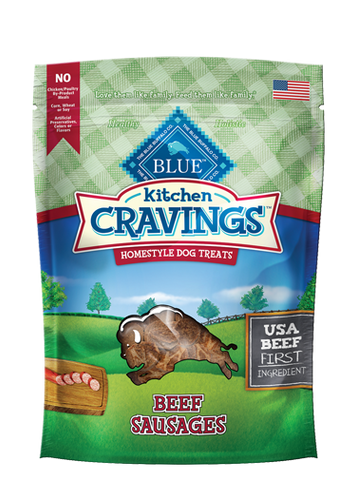 Blue Buffalo BLUE Kitchen Cravings Beef Sausage Dog Treats