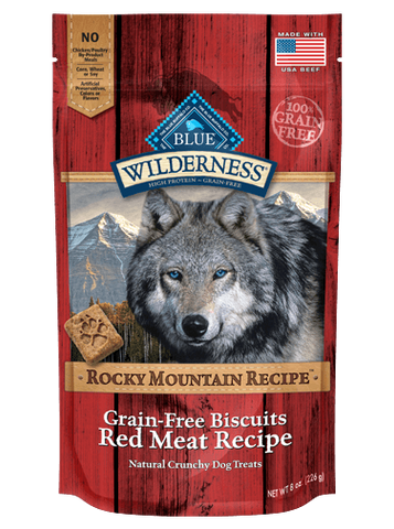 Blue Buffalo BLUE Wilderness Rocky Mountain Grain-Free Red Meat Biscuits Dog Treats