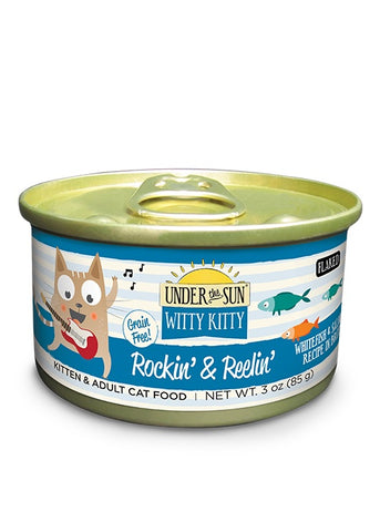 Canidae Under the Sun Witty Kitty: Rockin & Reelin Grain Free Whitefish and Salmon Flaked Canned Cat Food