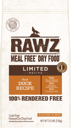 RAWZ Meal Free Limited Recipe Real Duck Dry Dog Food