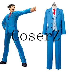 Ace Attorney cosplay Phoenix Wright Naruhodo Ryuichi Cosplay Costume