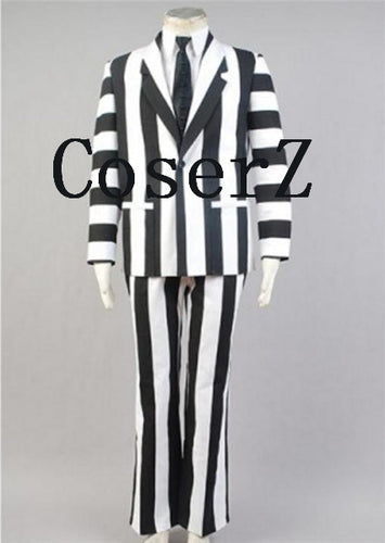 Beetlejuice Tim Burton Suit Cosplay Costume