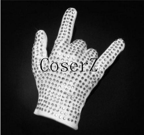 Michael Jackson Single side rhinestone glove collection For Billie Jean