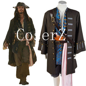 Pirates Of The Caribbean Cosplay Costume Jack Sparrow Costume