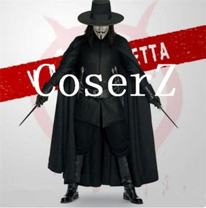 v for vendetta Black Warrior Cosplay Costume