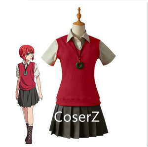 Loyal 2017 New Anime Charlotte Nao Tomori Red School Uniform Cosplay Costume Women's Costumes Costumes & Accessories