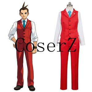 Ace Attorney Polly Red Lawyer Suit Cosplay Costume