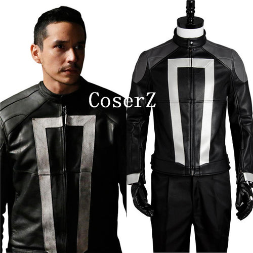Agents of Shield S.H.I.E.L.D Ghost Rider Carnival Cosplay Costume