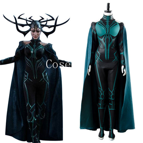 Thor 3 Ragnarok Goddess Of Death Hela Cosplay Costume