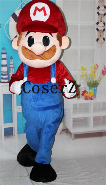 Super Mario Luigi Brothers Fancy Dress Up Party Mascot Cosplay Costume