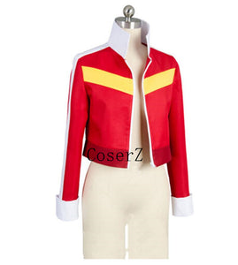 Voltron Legendary Defender Keith Red Jacket Top Coat Cosplay Costume