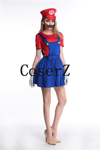Super Mario Luigi Bros Cosplay Costume